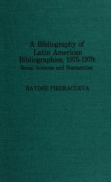 Cover of: Bibliography of Latin American Bibliographies, 1975-1979 |