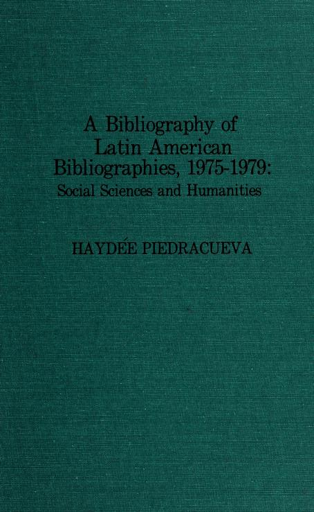 Bibliography of Latin American Bibliographies, 1975-1979 by