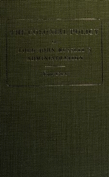 Cover of: The colonial policy of Lord John Russell's administration   Henry George Grey 3d Earl Grey