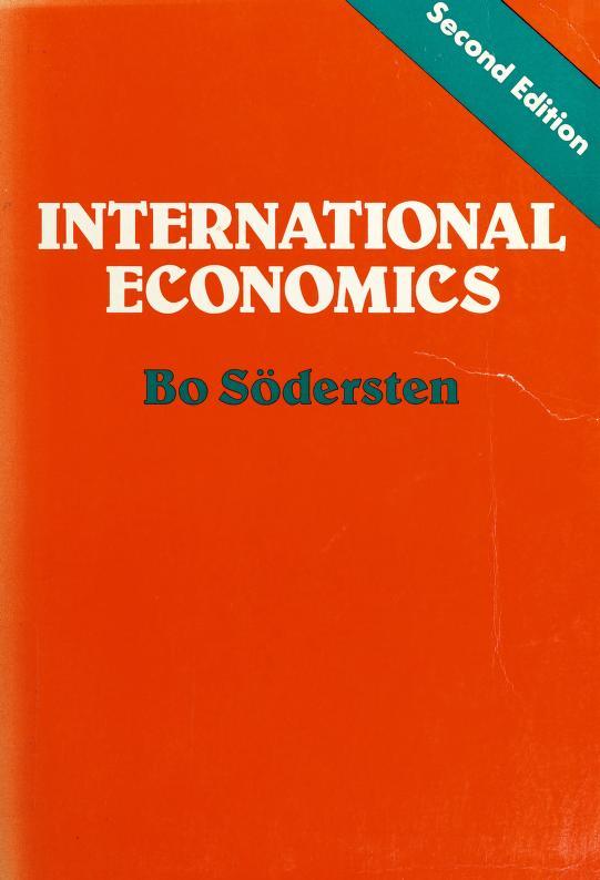 International Economics by Bo S-Odersten