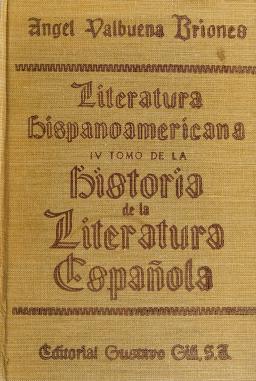 Cover of: Literatura hispanoamericana | Angel Valbuena Prat