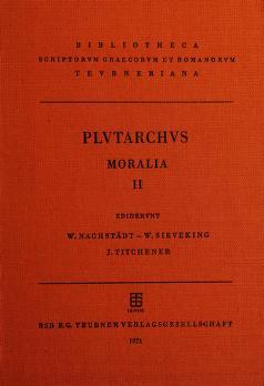 Cover of: Moralia   Plutarch