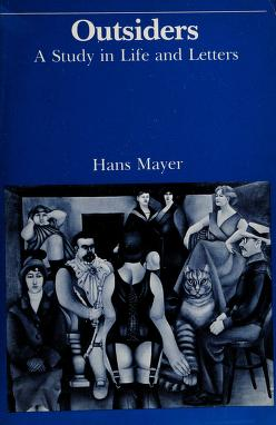 Cover of: Outsiders | Mayer, Hans