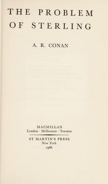 Cover of: The problem of sterling | A. R. Conan