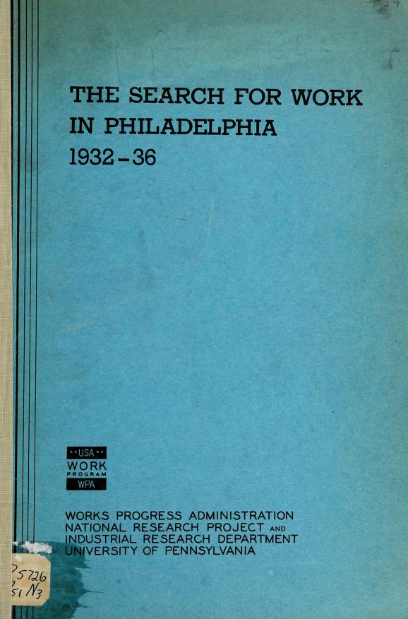 Ten years of work experience of Philadelphia weavers and loom fixers by Gladys L. Palmer